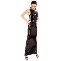 anita berg AB4062  latex cocktail klänning - fetish lång klänning
