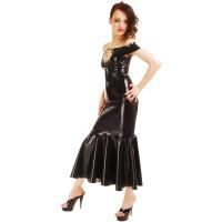 anita berg AB4186Z latex cocktail klänning - fetish lång klänning