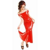anita berg AB4217 latex cocktail klänning - fetish lång klänning