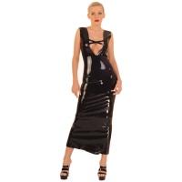 anita berg AB4292 latex cocktail klänning - fetish lång klänning