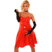 anita berg AB4354 latex cocktail klänning - fetish lång klänning