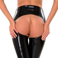 anita berg AB4596 latex byxor - spanking leggings öppna rumpa
