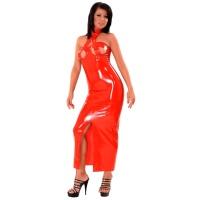 anita berg AB4619 latex cocktail klänning - fetish lång klänning