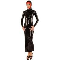 anita berg AB4676 latex cocktail klänning - fetish lång klänning