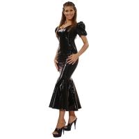 ledapol 1052 vinyl klänning - lack långa klänning fetish