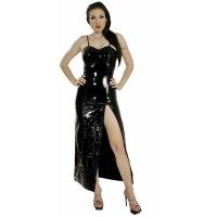ledapol 1077 vinyl klänning - lack långa klänning fetish