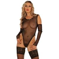 ledapol 1097 nätsbody - fisknäts bodysuit kvinnor - sexiga lingere