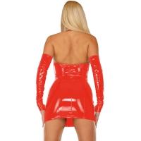 ledapol 1193 vinyl mini klänning - korta lack klänning fetish