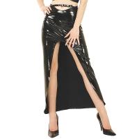 ledapol 1203-1 vinyl långa kjolar - lack kjol fetish