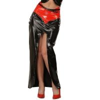 ledapol 1203-R vinyl långa kjolar - lack kjol fetish