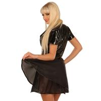 ledapol 1216 vinyl mini klänning - korta lack klänning fetish