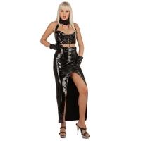ledapol 1229 vinyl långa kjolar - lack kjol fetish