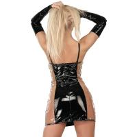ledapol 1338 vinyl mini klänning - korta lack klänning fetish