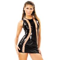 ledapol 1339 vinyl mini klänning - korta lack klänning fetish