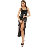 ledapol 1351 vinyl klänningar - lack långa klänningar fetish