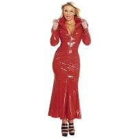 ledapol 1389 vinyl klänning - lack långa klänning fetish
