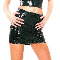 ledapol 1402 vinyl minikjolar - lack kort kjol fetish