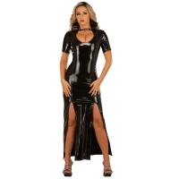 ledapol 1446 vinyl klänning - lack långa klänning fetish