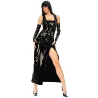 ledapol 1455 vinyl klänning - lack långa klänning fetish