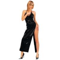 ledapol 1473 vinyl klänning - lack långa klänning fetish