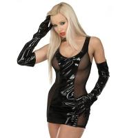 ledapol 1549 vinyl mini dress - patent short dress fetish