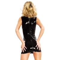 ledapol 1617 vinyl mini klänning - korta lack klänning fetish