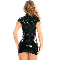 ledapol 1618 vinyl mini klänning - korta lack klänning fetish