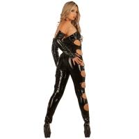 ledapol 1621 vinyl catsuit - lack overaller fetish