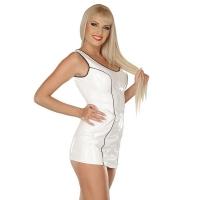 ledapol 1666 vinyl mini dress - patent short dress fetish