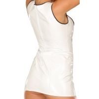 ledapol 1666 vinyl mini klänning - korta lack klänning fetish