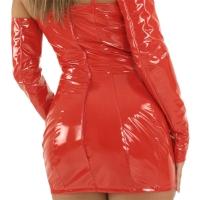 ledapol 1680 vinyl mini klänning - korta lack klänning fetish