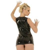 ledapol 1688 vinyl mini klänning - korta lack klänning fetish