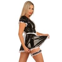 ledapol 1749 vinyl mini klänning - korta lack klänning fetish