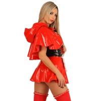 ledapol 1750 vinyl mini klänning - korta lack klänning fetish