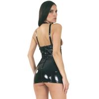 ledapol 1765 vinyl mini klänning - korta lack klänning fetish