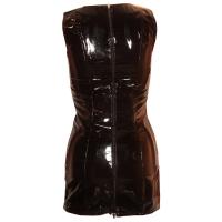 ledapol 1769 vinyl mini klänning - korta lack klänning fetish
