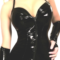 ledapol 1799 vinyl mini klänning - lackkorta klänning fetish