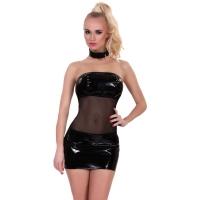 ledapol 1832 vinyl mini dress - patent short dress fetish