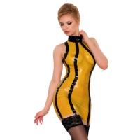ledapol 2104 latex mini klänning - strumpeband klänning - latex festklänning