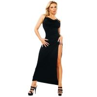 ledapol 3026 stretch klänning - tyg långa klänning fetish