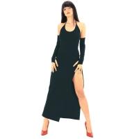 ledapol 3068 stretch klänning - tyg långa klänning fetish