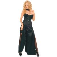 ledapol 3069 långa klänning - satin klänning - fetish korsettklänning