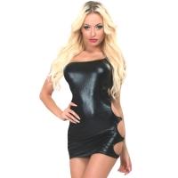 ledapol 3253 stretch klänning - stretch miniklänning - sexiga klänning