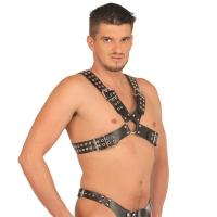 ledapol 5516 sm herr bröstsele läder - gay harness