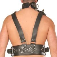ledapol 8043 sm herr bröstsele läder - gay harness