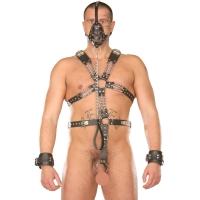 ledapol 877 sm herr sele body läder - gay harness