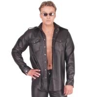 ledapol 990 herr läder skjorta - gay skjorta