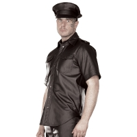 ledapol 991 herr läder skjorta - gay skjorta